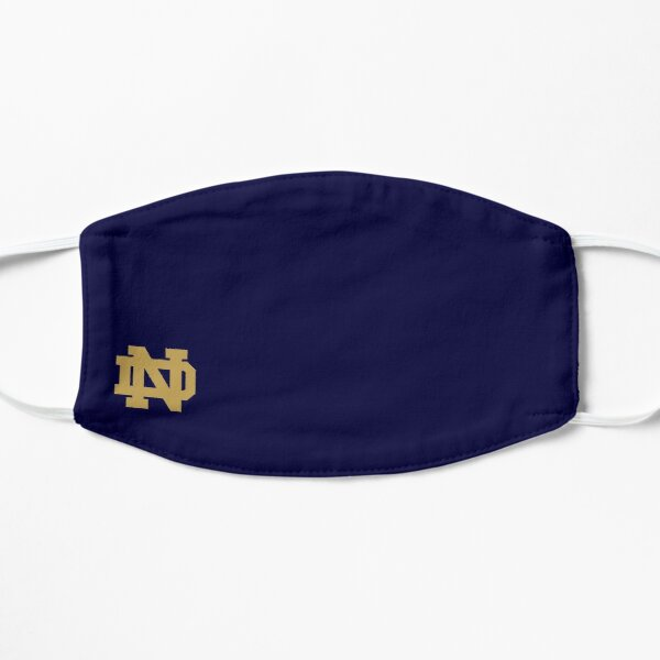 Notre Dame Small Gold Logo Mask Flat Mask