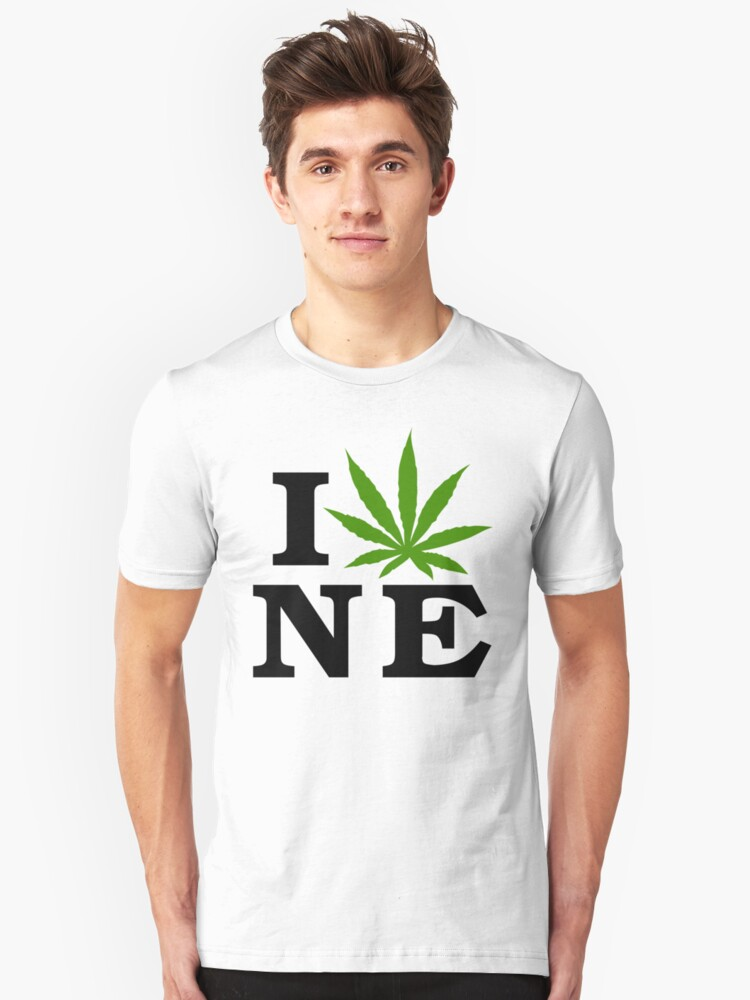 I Love Nebraska Marijuana Cannabis Weed T-Shirt by MarijuanaTshirt