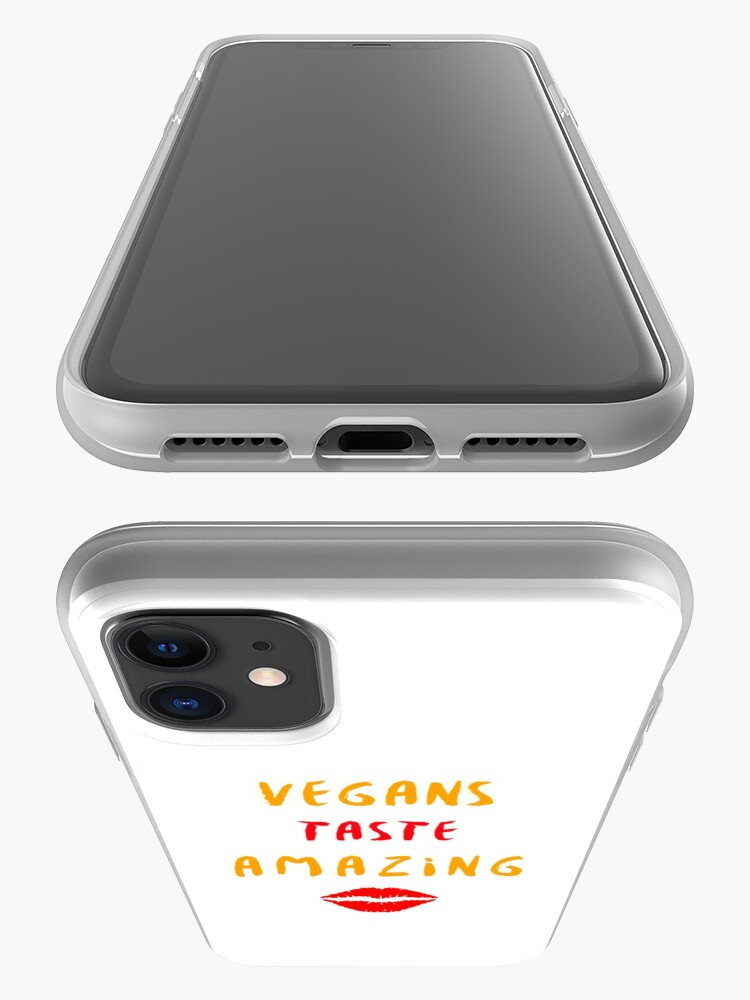 Alternate view of Vegans Taste Amazing with Lips iPhone Case & Cover