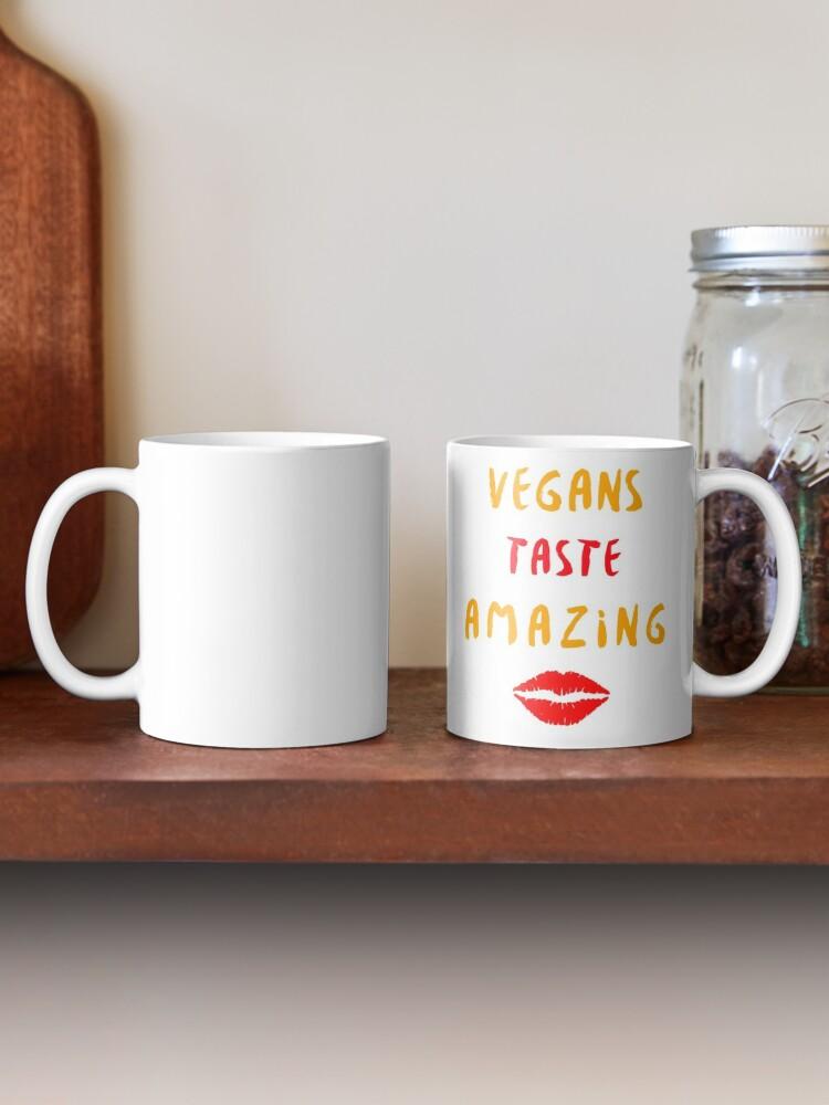 Alternate view of Vegans Taste Amazing with Lips Mug