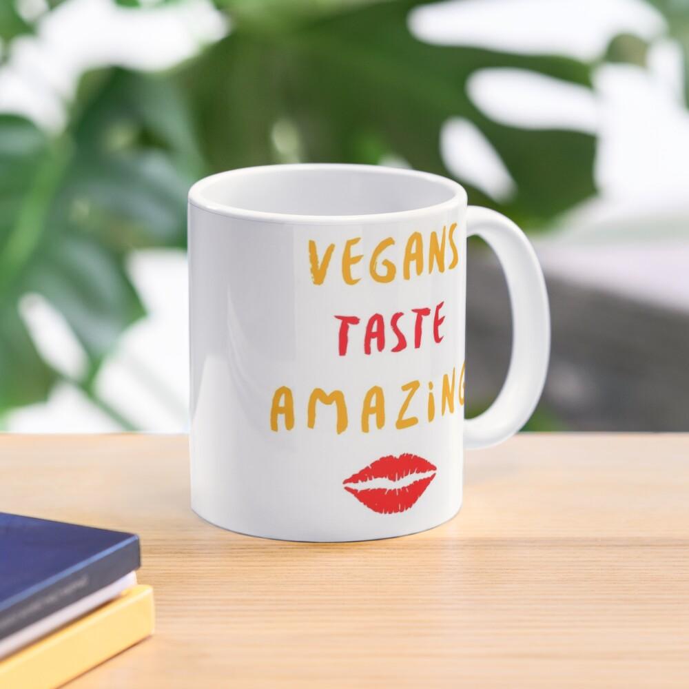 Vegans Taste Amazing with Lips Mug