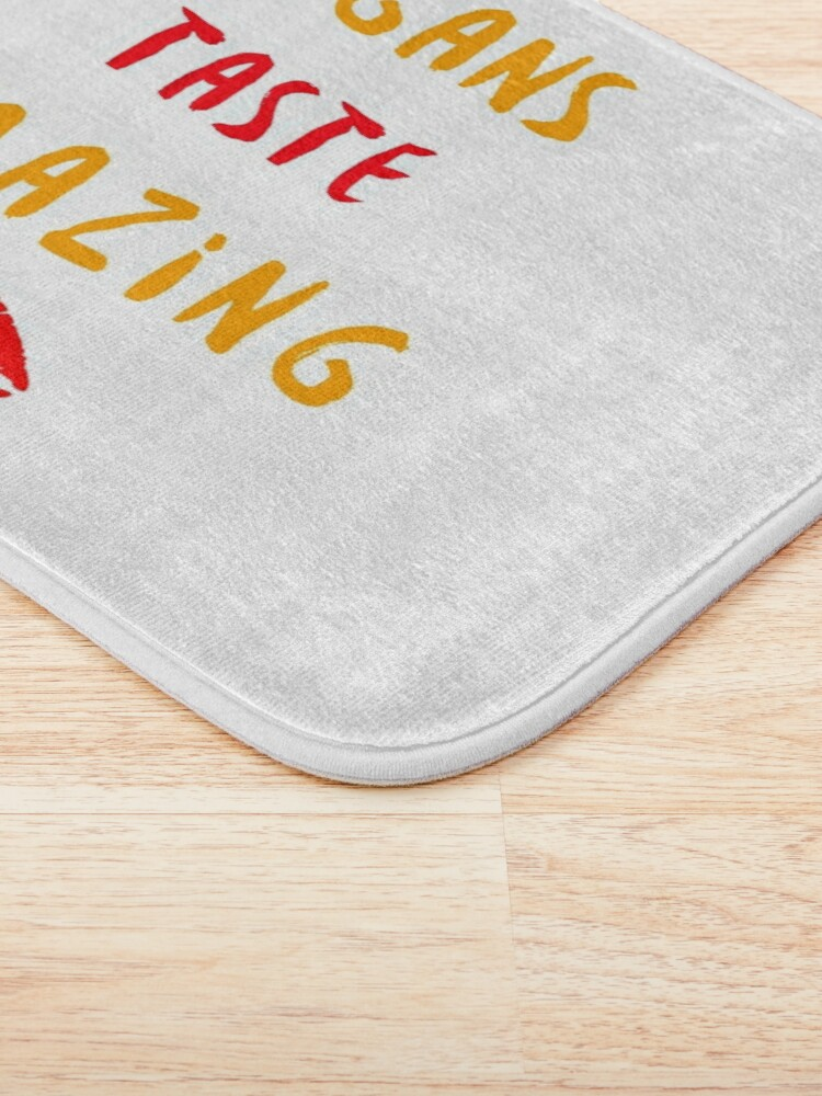 Alternate view of Vegans Taste Amazing with Lips Bath Mat