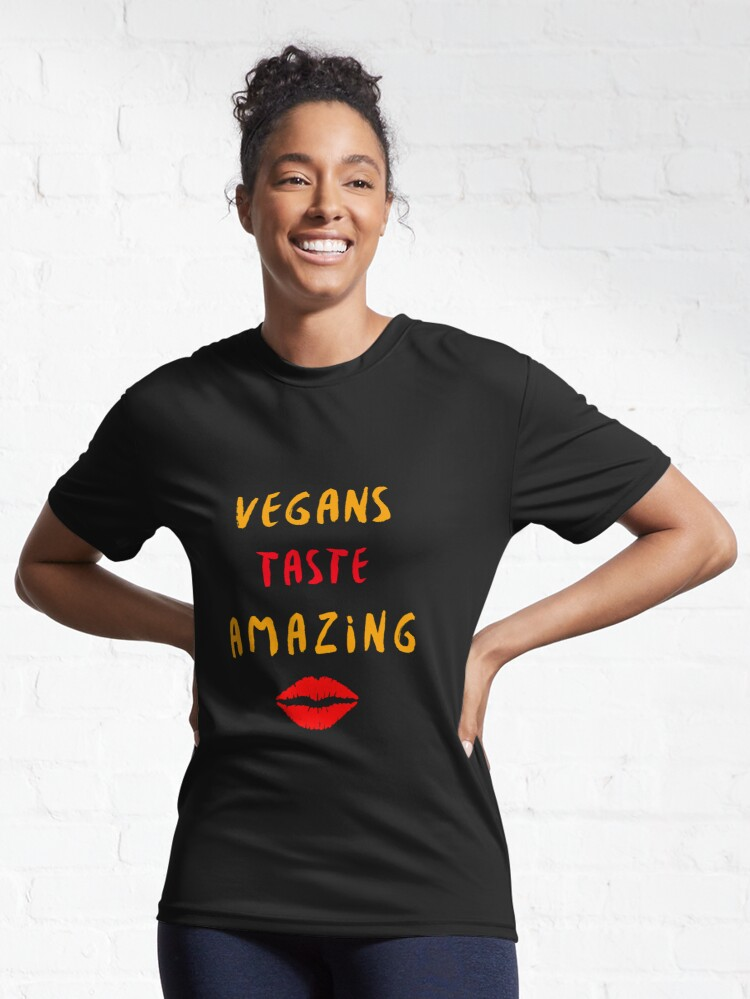 Alternate view of Vegans Taste Amazing with Lips Active T-Shirt