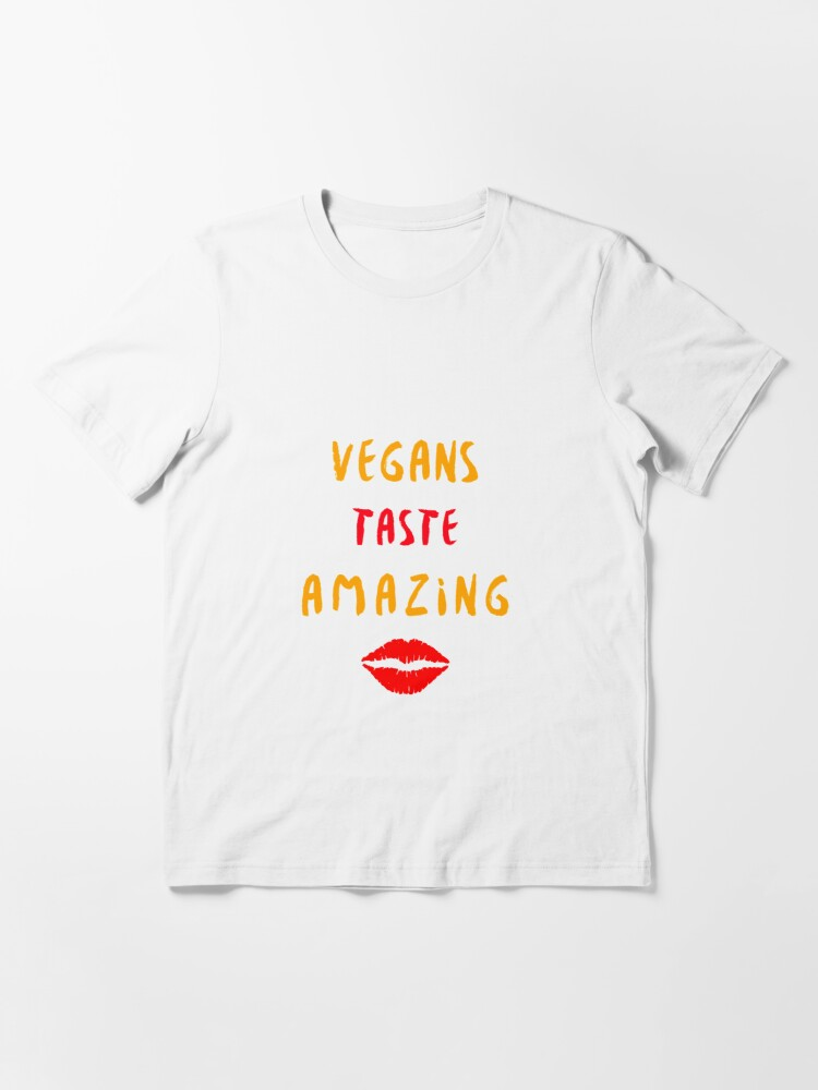 Alternate view of Vegans Taste Amazing with Lips Essential T-Shirt