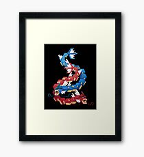 Blue and Red Gyarados Framed Print