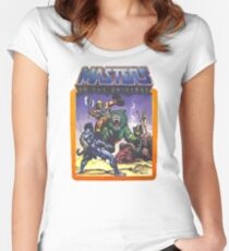 He-Man Masters of the Universe Battle Scene with Skeletor Women's Fitted Scoop T-Shirt