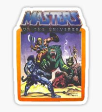 He-Man Masters of the Universe Battle Scene with Skeletor Sticker