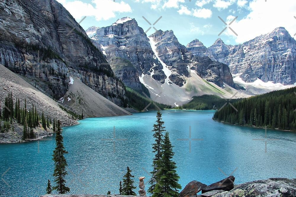 Moraine Lake, Banff National Park by Vickie Emms