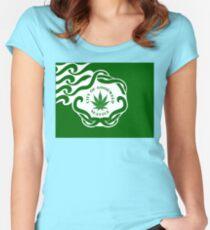 Seattle Marijuana Flag Women's Fitted Scoop T-Shirt