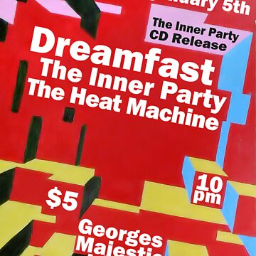 The Inner Party Show Flyer - January 5th 2009 by BurningCity