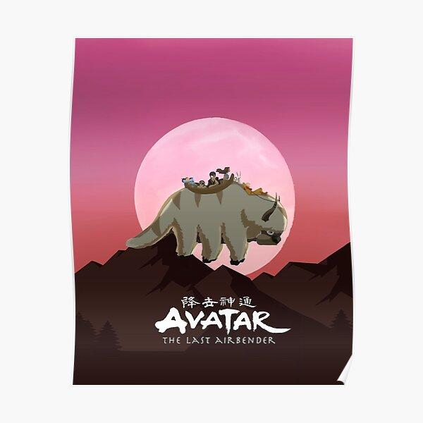Team Avatar on Appa Poster