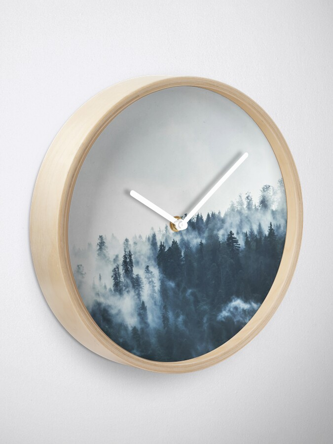 Alternate view of Foggy Forest Landscape Clock