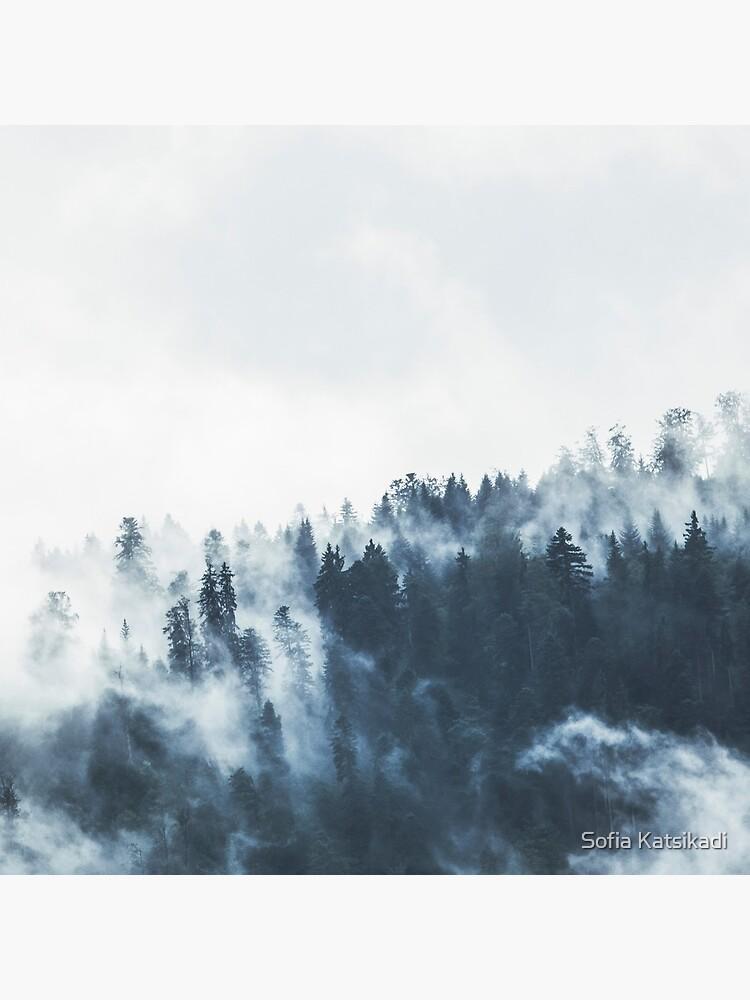 Foggy Forest Landscape by Sofiakat