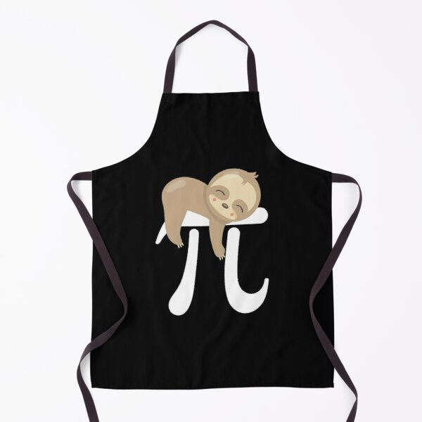 Sloth Pi Day design - Funny Cute Animal Lover Gift Apron