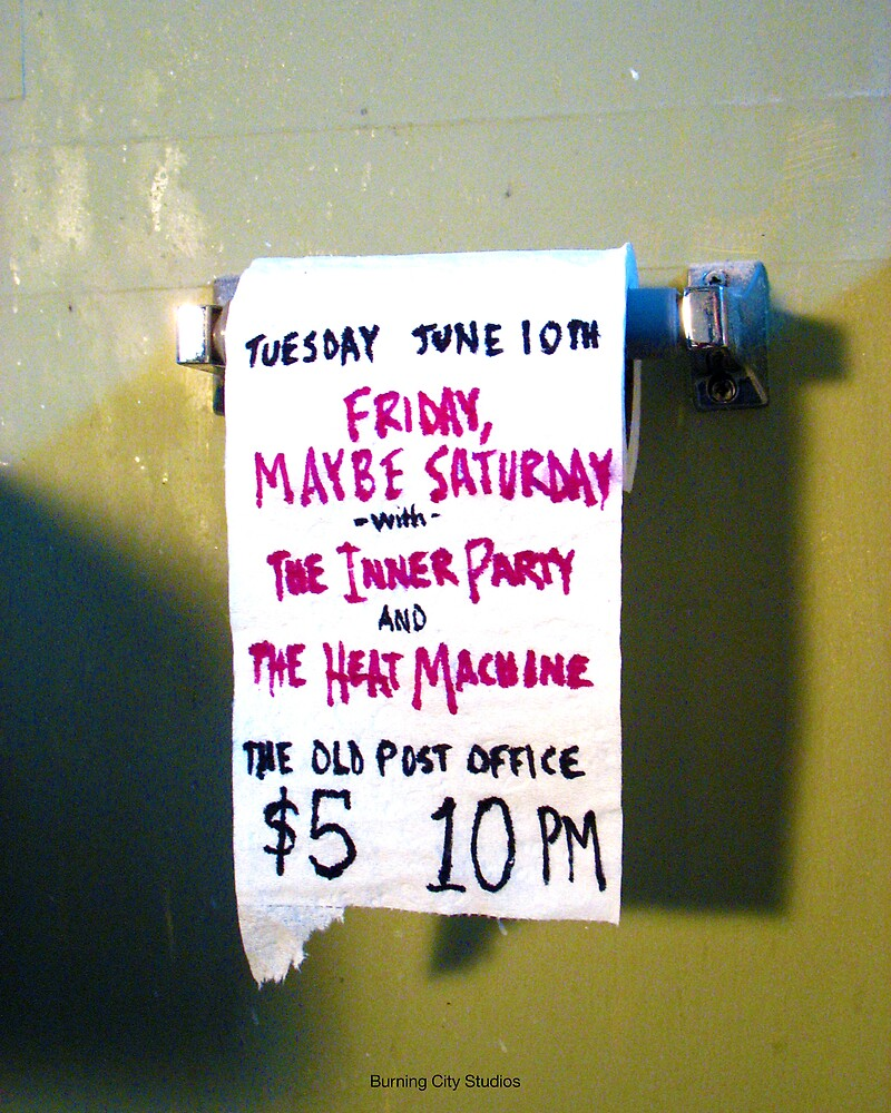 The Inner Party Show Flyer - June 10, 2008 - V2 by BurningCity