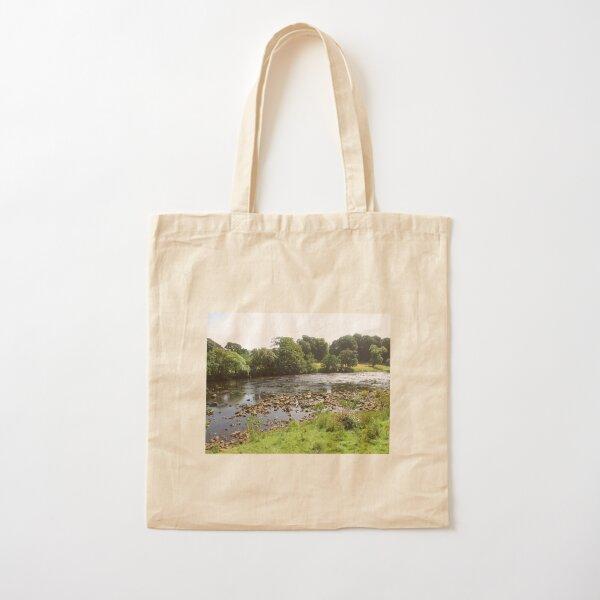 Merch #96 -- Stream Between Trees - Shot 5 (Hadrian's Wall) Cotton Tote Bag