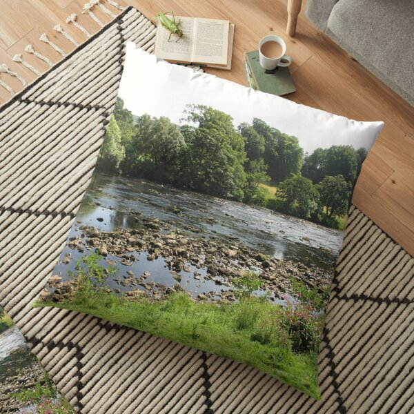 Merch #96 -- Stream Between Trees - Shot 5 (Hadrian's Wall) Floor Pillow