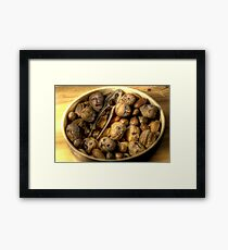 We're all nuts #1 Framed Print
