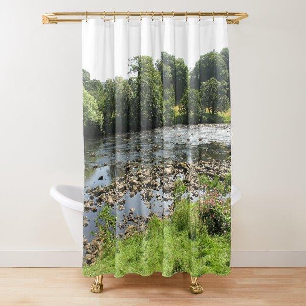 Merch #96 -- Stream Between Trees - Shot 5 (Hadrian's Wall) Shower Curtain