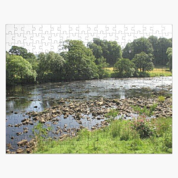 Merch #96 -- Stream Between Trees - Shot 5 (Hadrian's Wall) Jigsaw Puzzle