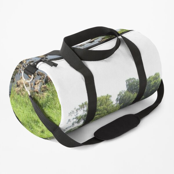 Merch #96 -- Stream Between Trees - Shot 5 (Hadrian's Wall) Duffle Bag