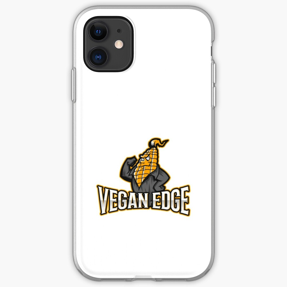 Vegan Edge with Strong Corn iPhone Case & Cover