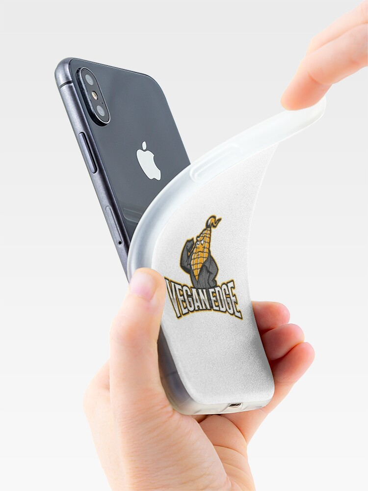 Alternate view of Vegan Edge with Strong Corn iPhone Case & Cover