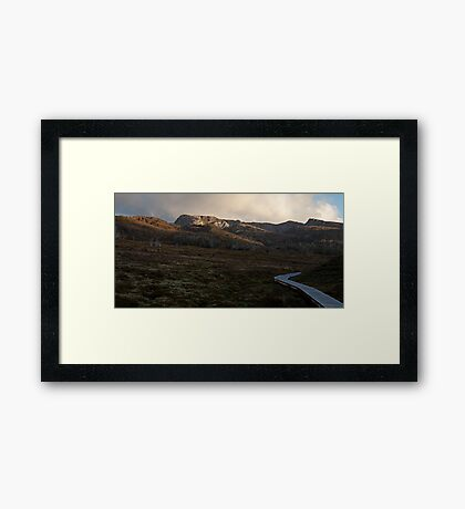 When the sun has set, no candle can replace it Framed Print