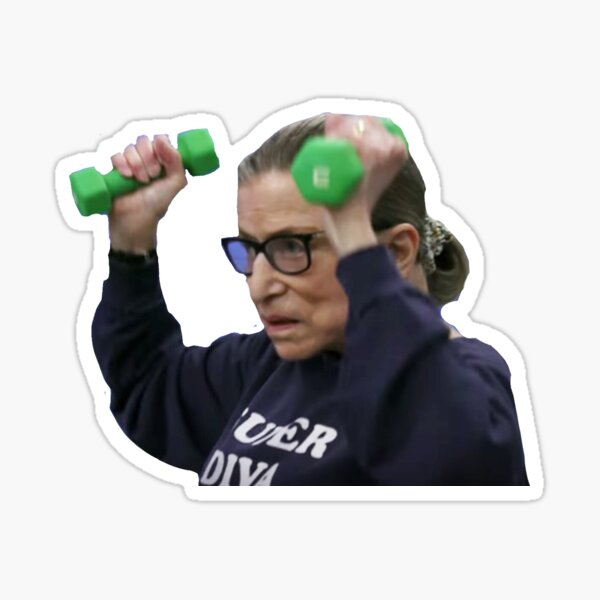 Ruth Bader Ginsburg Workout Sticker
