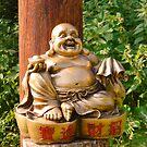 Laughing Golden Buddha by Jan Carlton