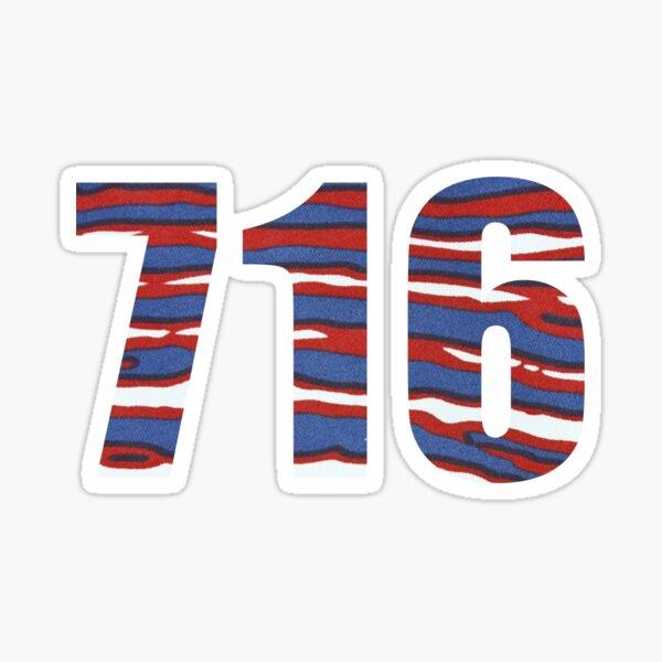 Buffalo NY 716 Zipcode  Sticker