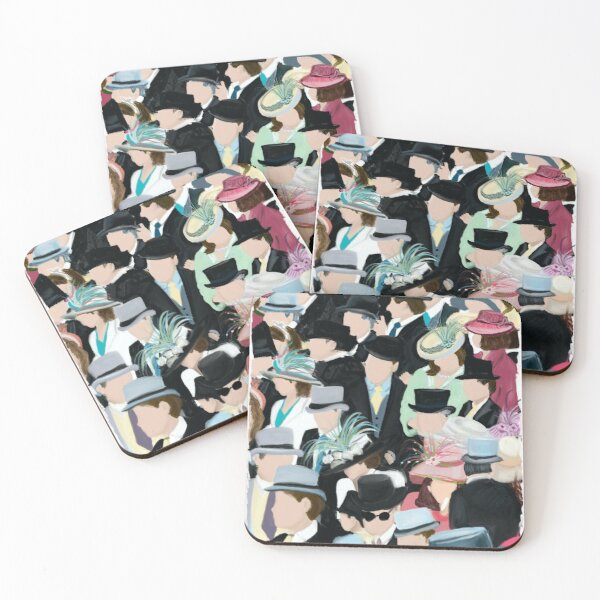 Ascot:  A Day at the Raceas Coasters (Set of 4)