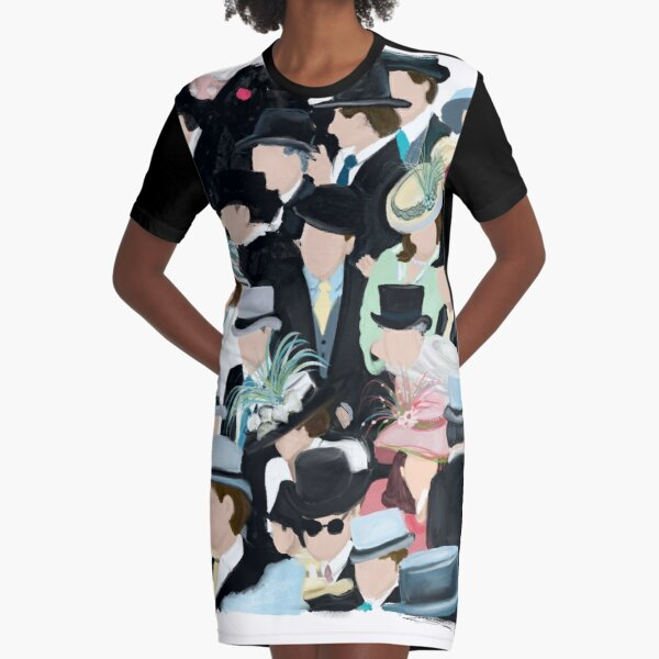 Ascot:  A Day at the Raceas Graphic T-Shirt Dress