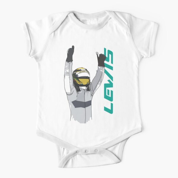 Lewis Hamilton Short Sleeve Baby One-Piece