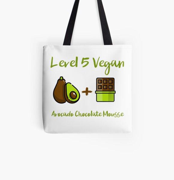 Level 5 Vegan - Avocado Chocolate Mousse All Over Print Tote Bag