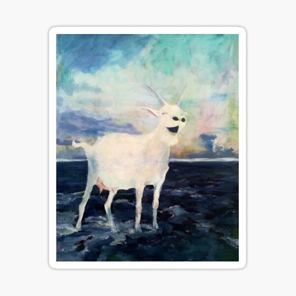 Eine fröhliche Ziege auf hoher See Sticker