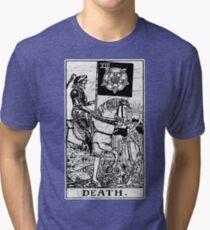 Death Tarot Card - Major Arcana - fortune telling - occult Tri-blend T-Shirt