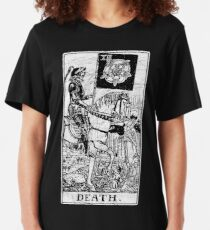 Death Tarot Card - Major Arcana - fortune telling - occult Slim Fit T-Shirt