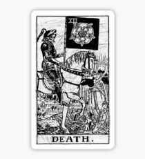Death Tarot Card - Major Arcana - fortune telling - occult Sticker