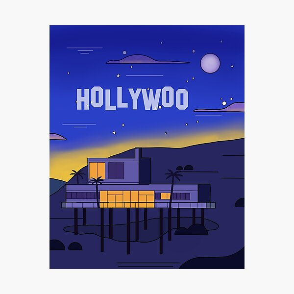 Hollywoo House Landscape Photographic Print