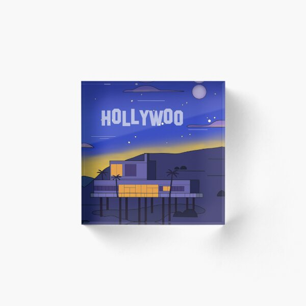 Hollywoo House Landscape Acrylic Block