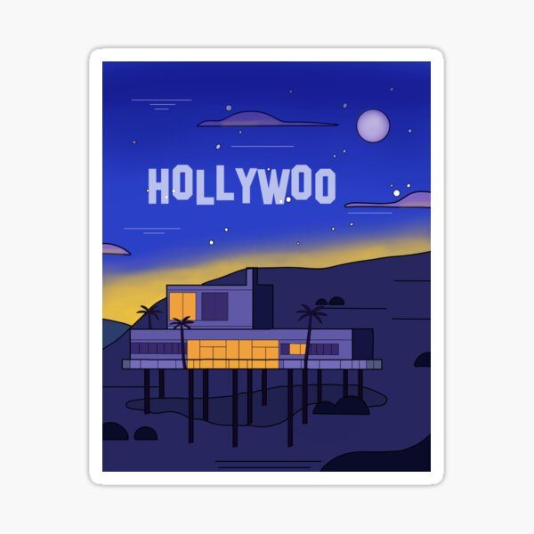 Hollywoo House Landscape Sticker
