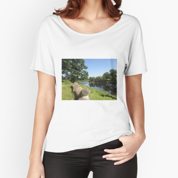 Merch #97 -- Stream Between Trees - Shot 6 (Hadrian's Wall) Relaxed Fit T-Shirt