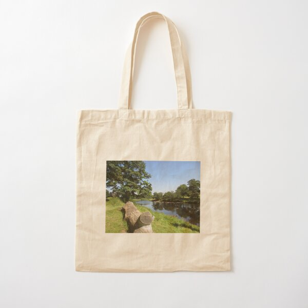 Merch #97 -- Stream Between Trees - Shot 6 (Hadrian's Wall) Cotton Tote Bag