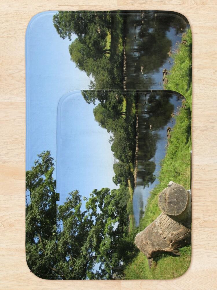 Alternate view of Merch #97 -- Stream Between Trees - Shot 6 (Hadrian's Wall) Bath Mat