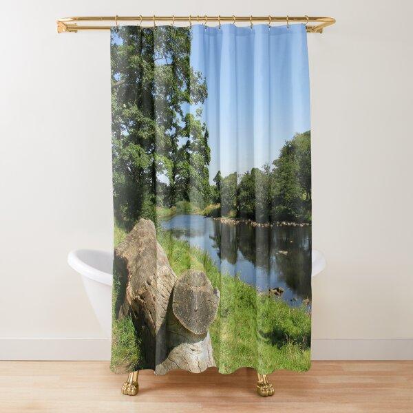 Merch #97 -- Stream Between Trees - Shot 6 (Hadrian's Wall) Shower Curtain