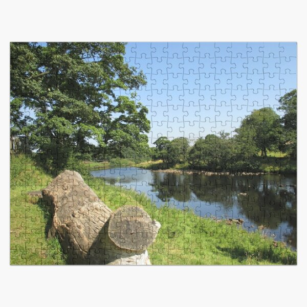 Merch #97 -- Stream Between Trees - Shot 6 (Hadrian's Wall) Jigsaw Puzzle
