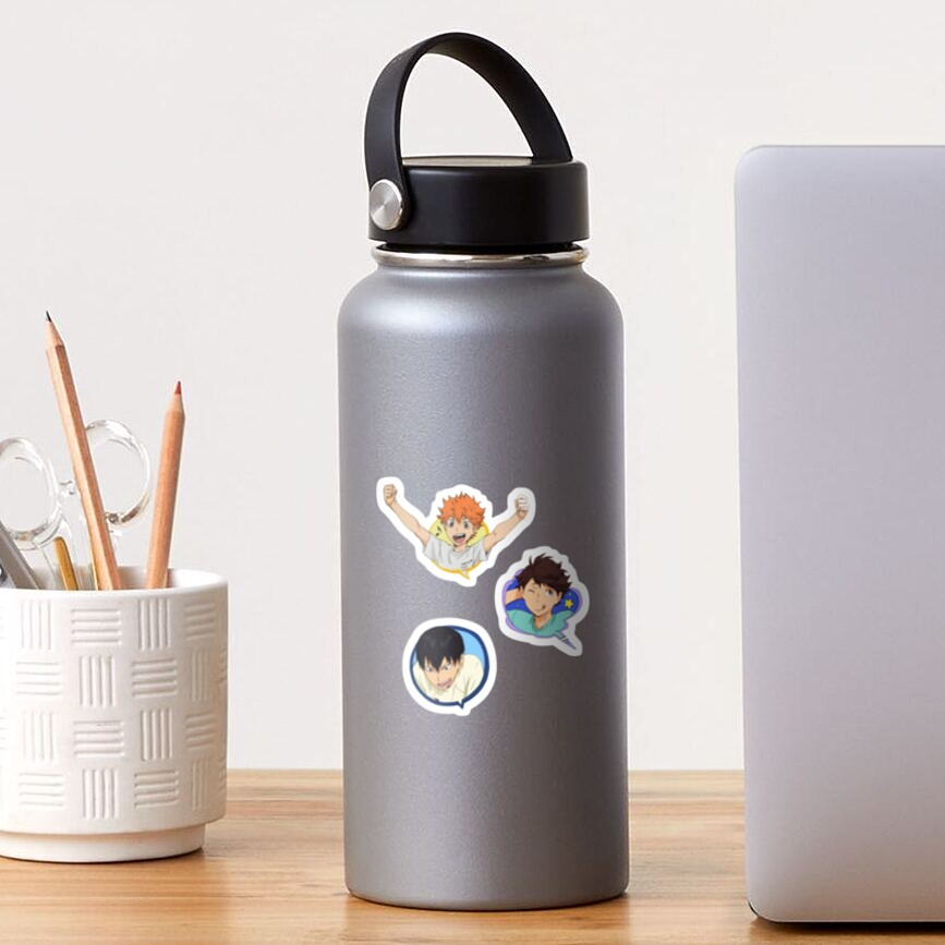 hinata, kageyama and oikawa bubbles Sticker