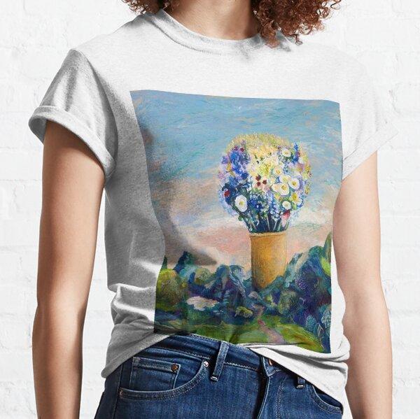 Gigantischer Blumenstrauß in der Landschaft Classic T-Shirt