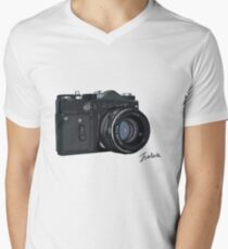 Classic Russian camera Men's V-Neck T-Shirt